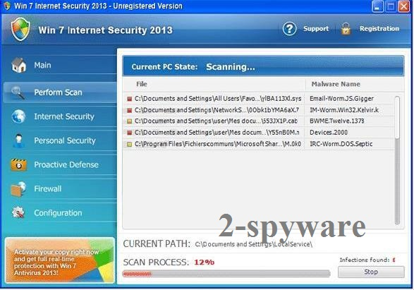 Win 7 Internet Security 2013 snapshot