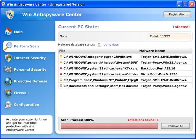 Win Antispyware Center