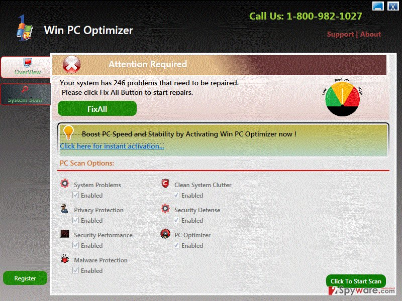 Win PC Optimizer virus