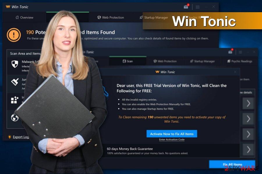 Win Tonic program screenshot