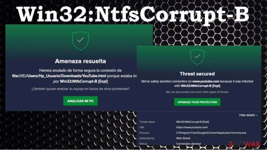 Win32:NtfsCorrupt-B alert