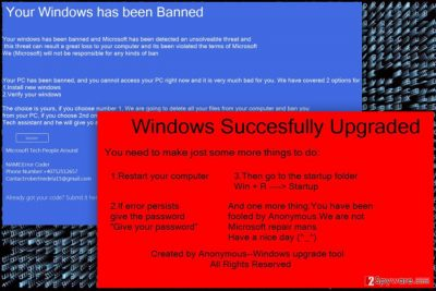 The image of WinBan ransomware virus