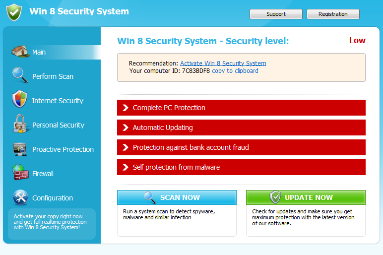 Windows 8 Security System snapshot