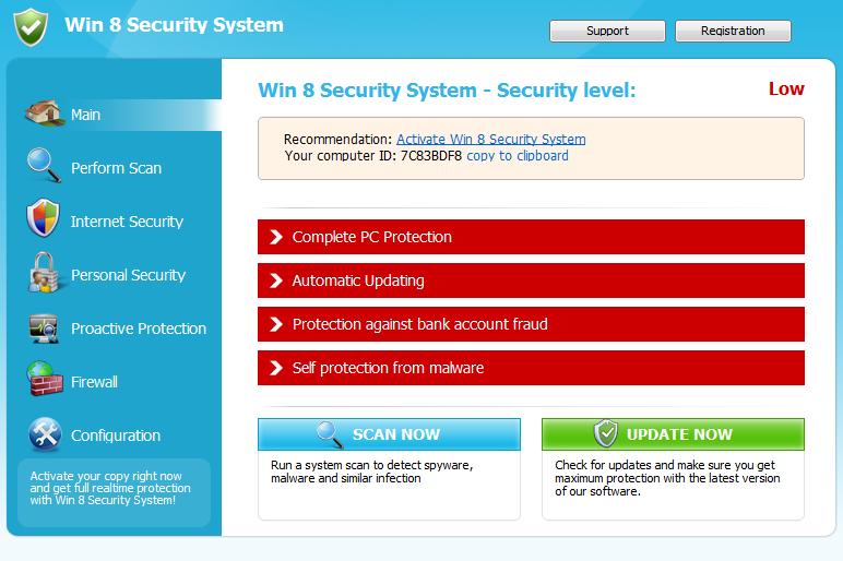 Windows 8 Security System snapshot
