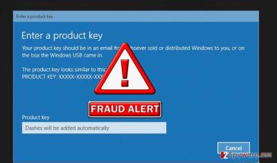 The screenshot of Windows activation Error code:0x56102
