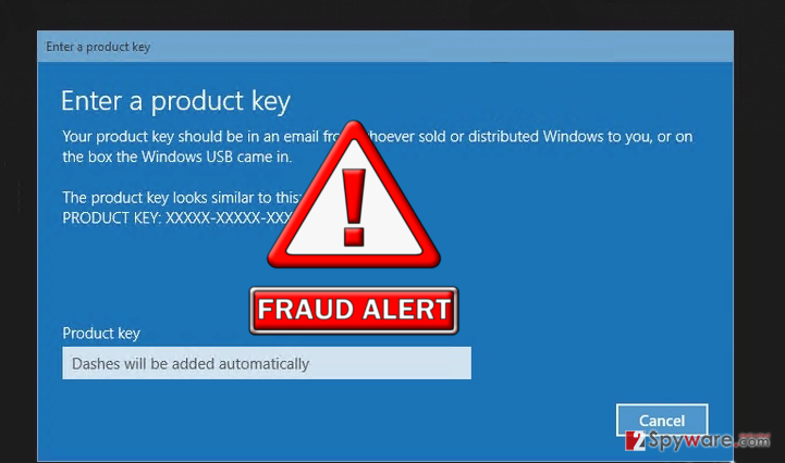The screenshot of Windows activation Error code:0x56102