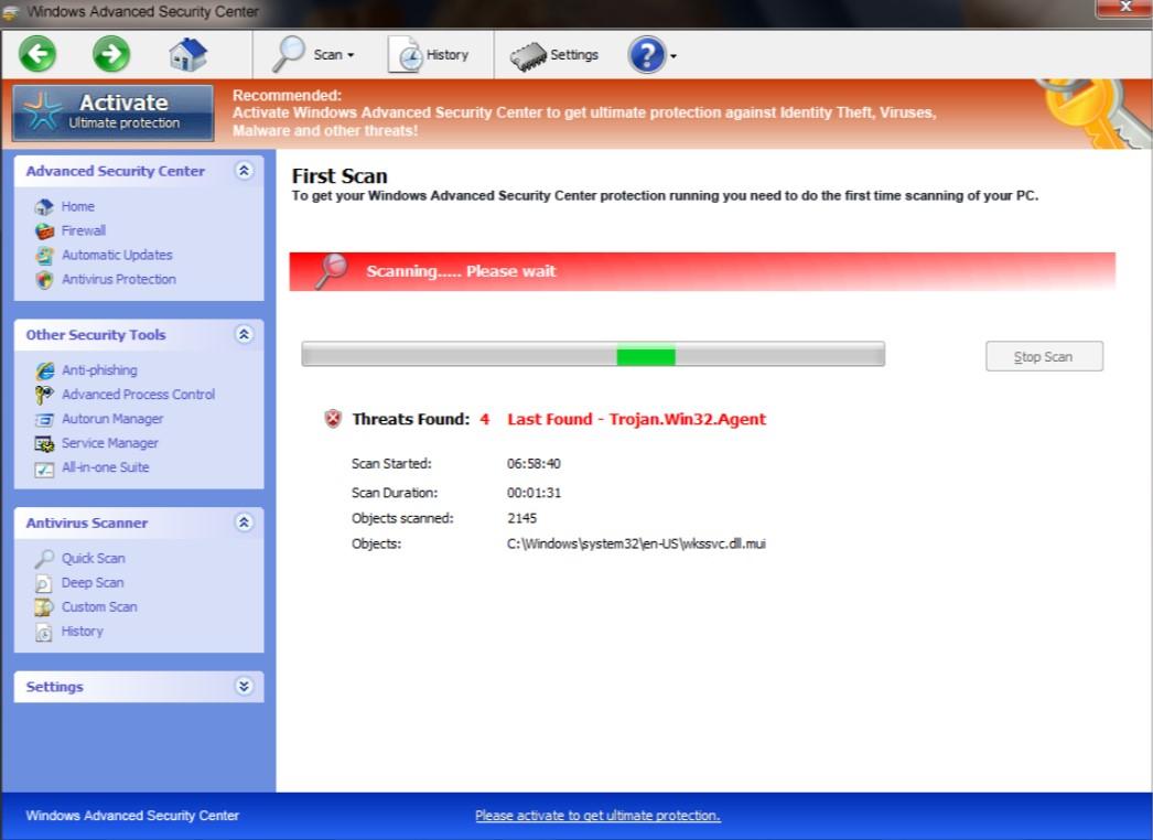 Windows Advanced Security Center