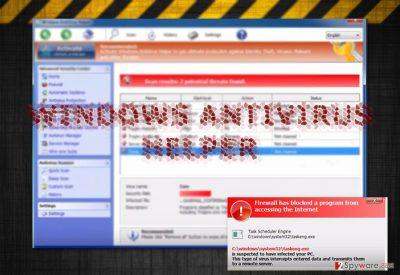 The image displaying Windows Antivirus Helper app