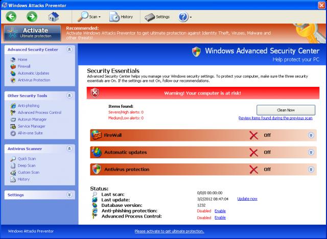 Windows Attacks Preventor