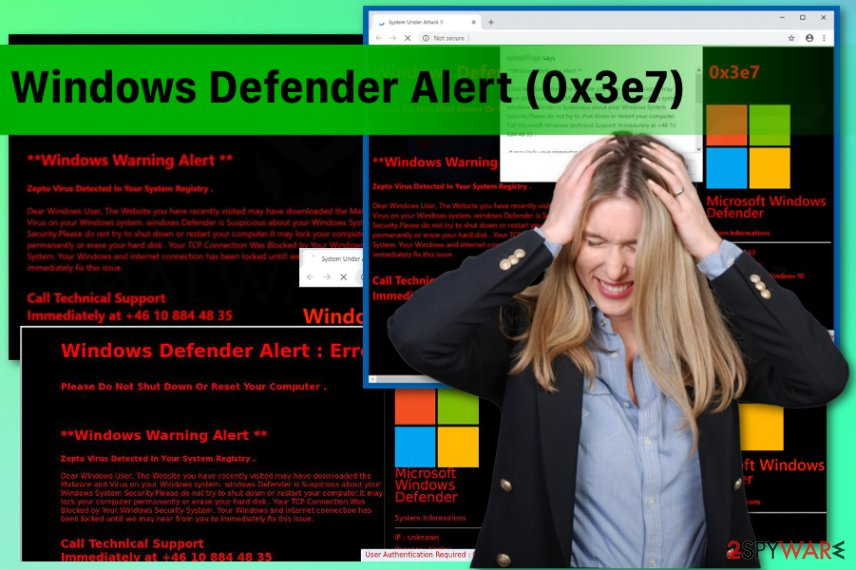 Windows Defender Alert (0x3e7)