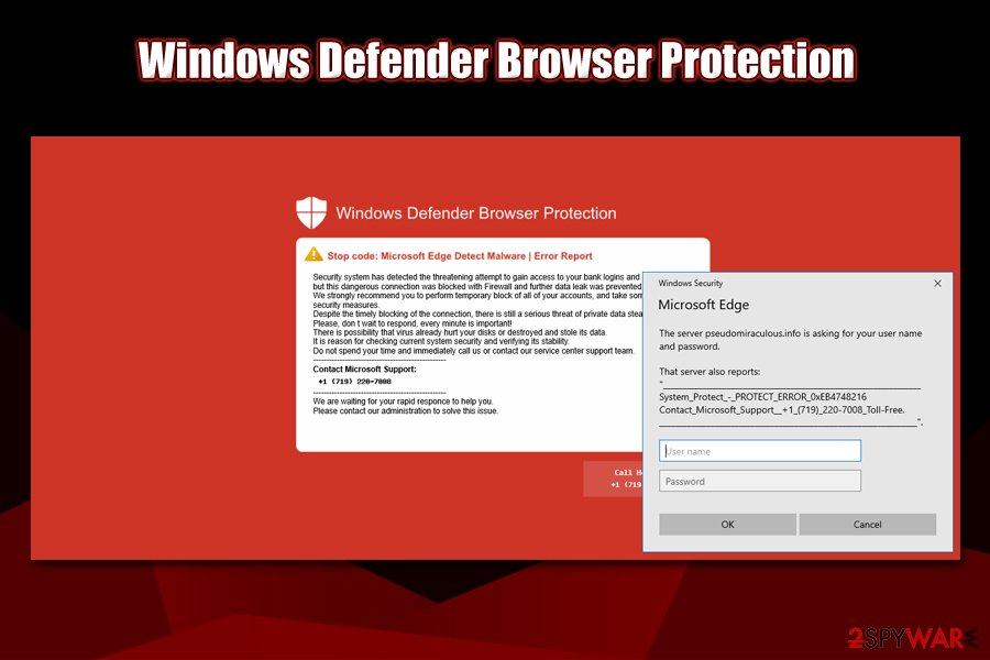 Windows Defender Browser Protection red screen