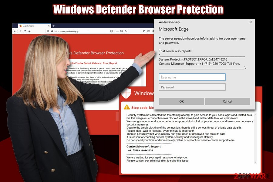 Windows Defender Browser Protection scam