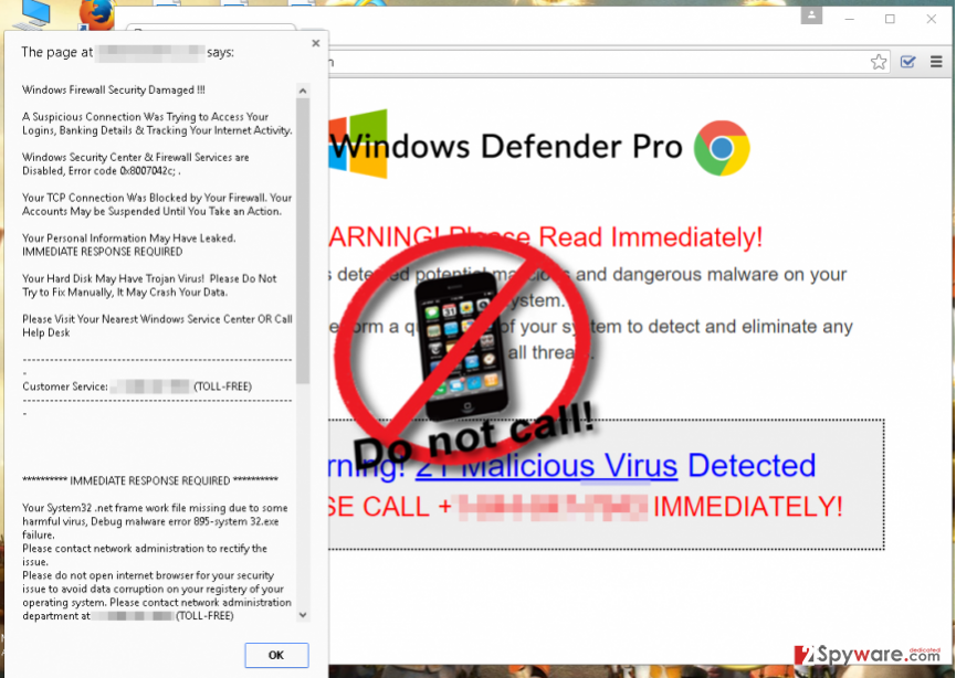 Windows Defender Pro ads