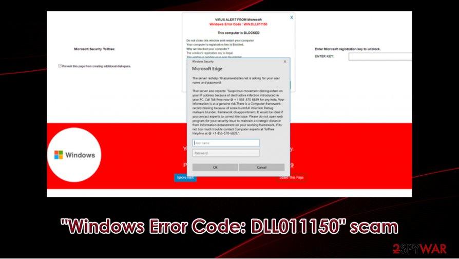 """""""Windows Error Code: DLL011150"""" scam"""