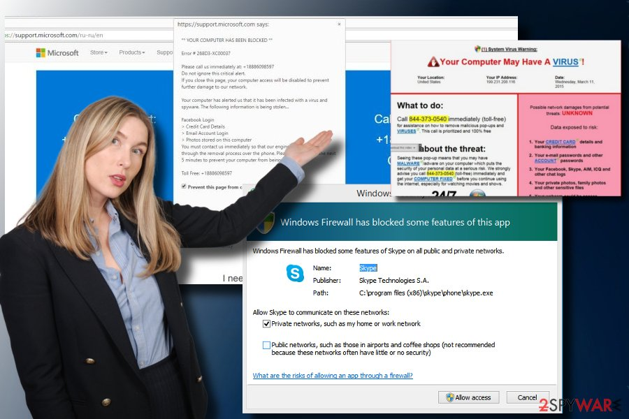 "showing ""Windows Firewall Security Alert"" pop-up"