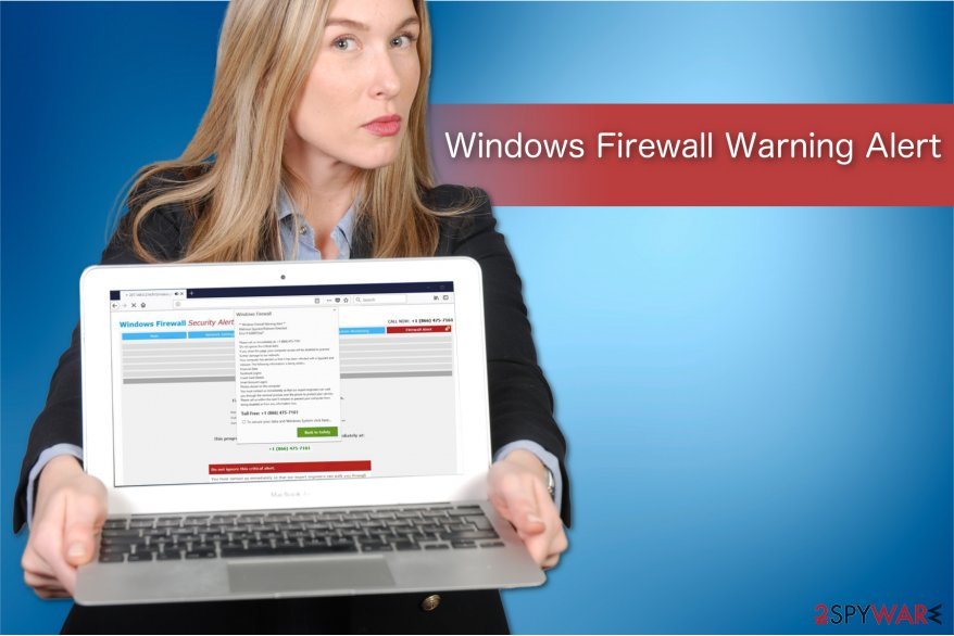 The illustration of Windows Firewall Warning Alert