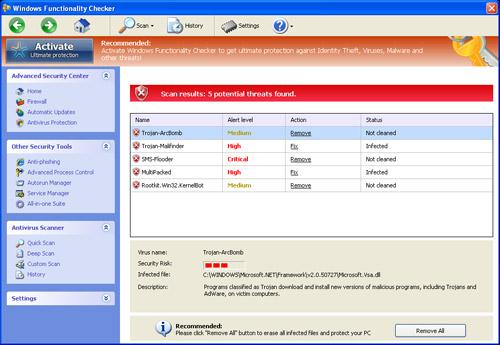 Windows Functionality Checker