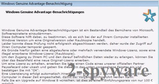 Windows Genuine Advantage Notifications (fake) snapshot