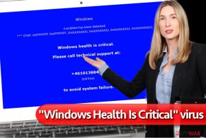 """Windows Health Is Critical"" virus"