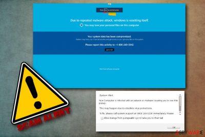 Windows Is Resetting Itself fake alert