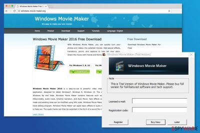 Example of Windows Movie Maker virus