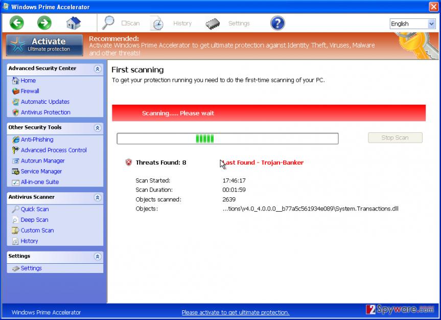 Windows Prime Accelerator snapshot