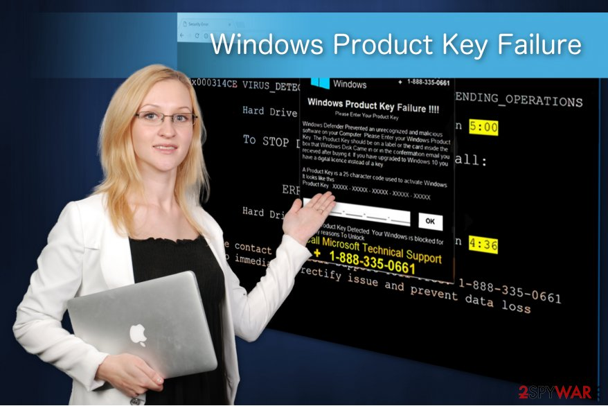 Windows Product Key Failure illustration