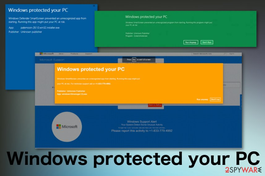 Windows protected your PC scam
