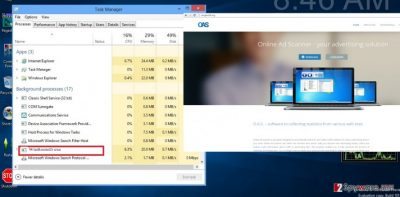 The image of Windows Route Mnager