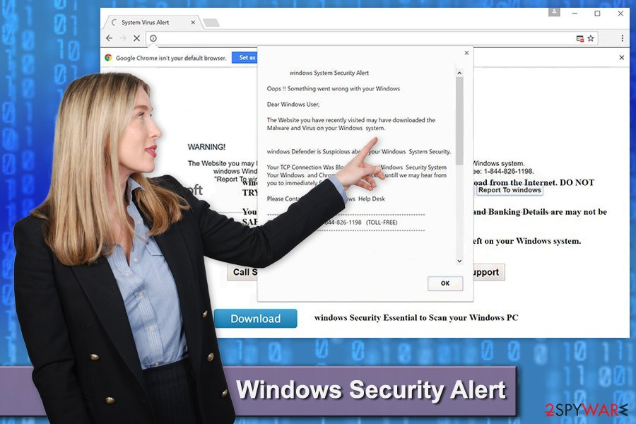 "The image of ""Windows Security Alert"" pop-up virus"