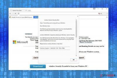 """Windows Security Alert"" scam"