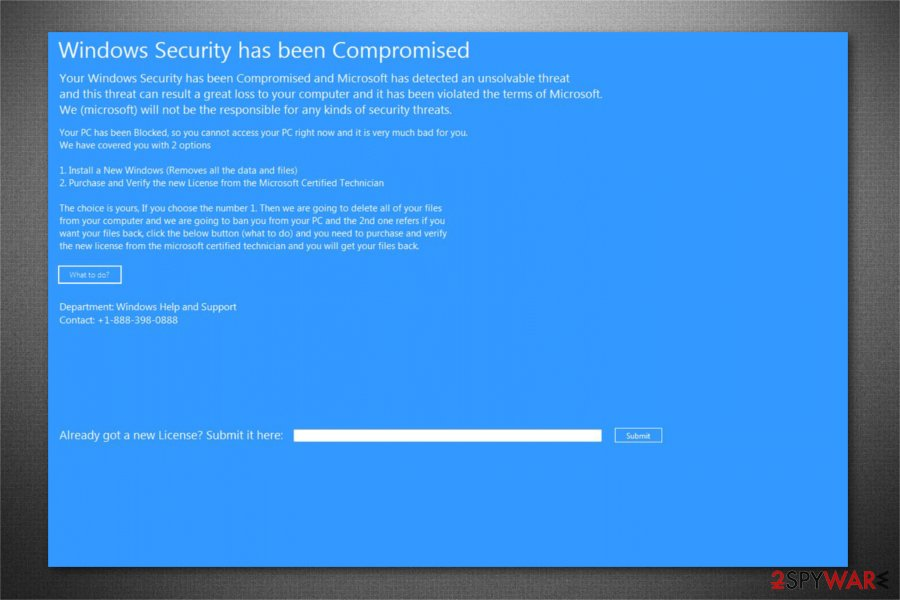 Windows Security has been Compromised image