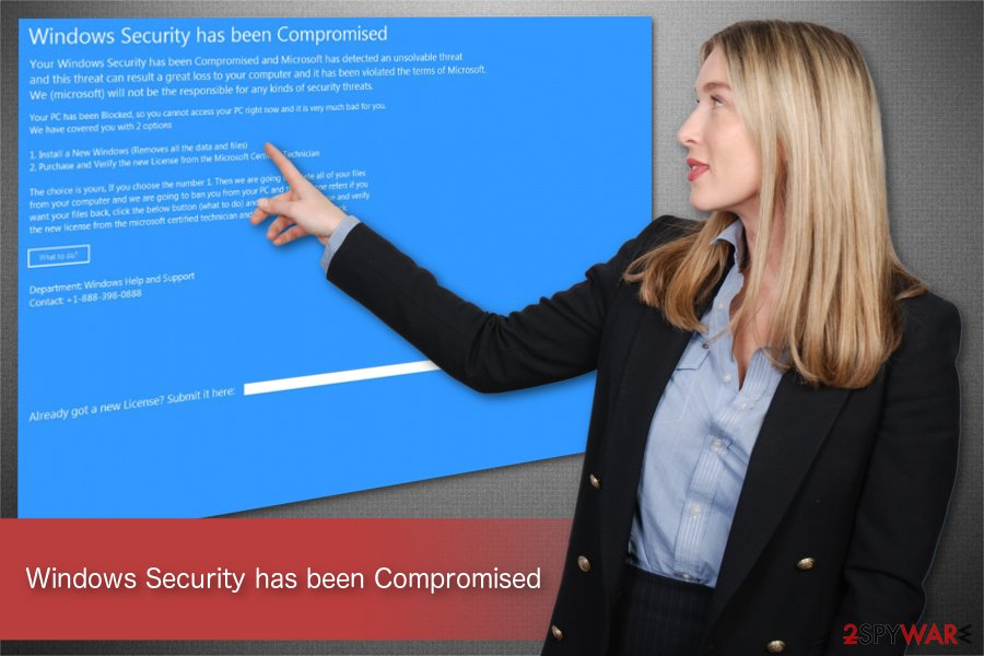 Windows Security has been Compromised illustration