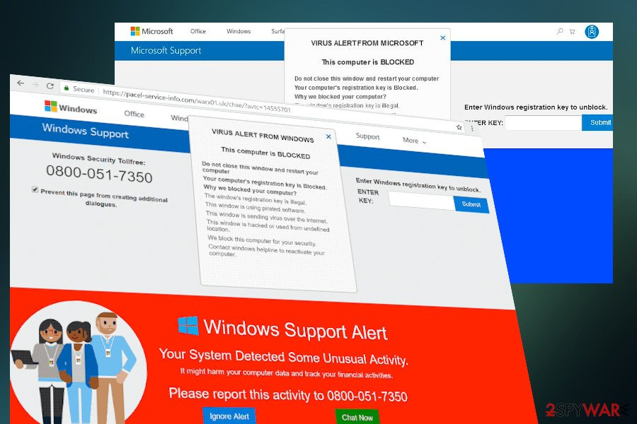 Windows Support Alert  popup
