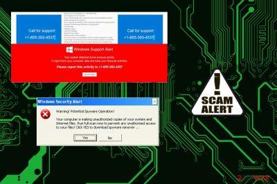 Windows Support Alert pop-up virus