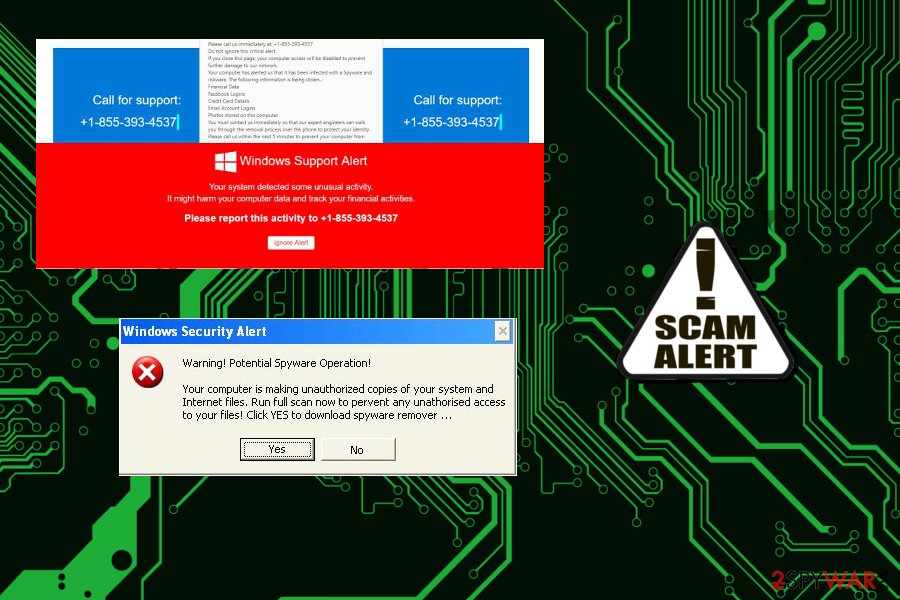Windows Support Alert pop-up virus