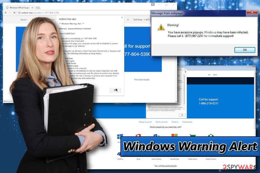 Displaying Windows Warning Alert