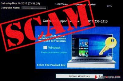 Fake WindowsActivationUpdate screen