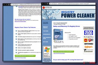Winferno Registry Power Cleaner PUP