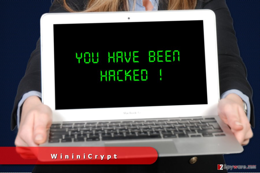 The image of WininiCrypt ransomware virus