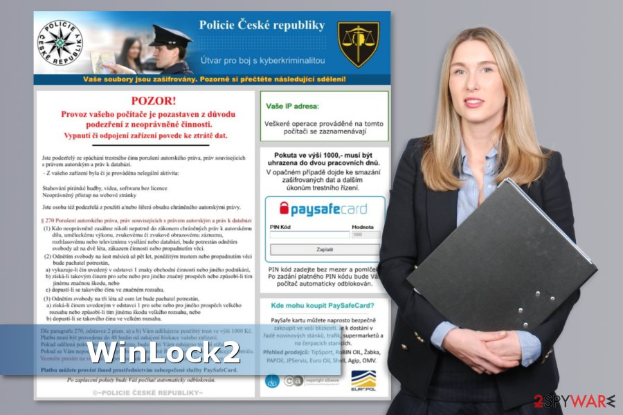 The picture of WinLock2 ransomware virus