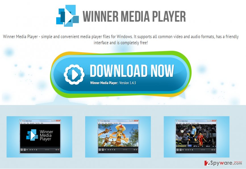 Winner Media Player virus snapshot