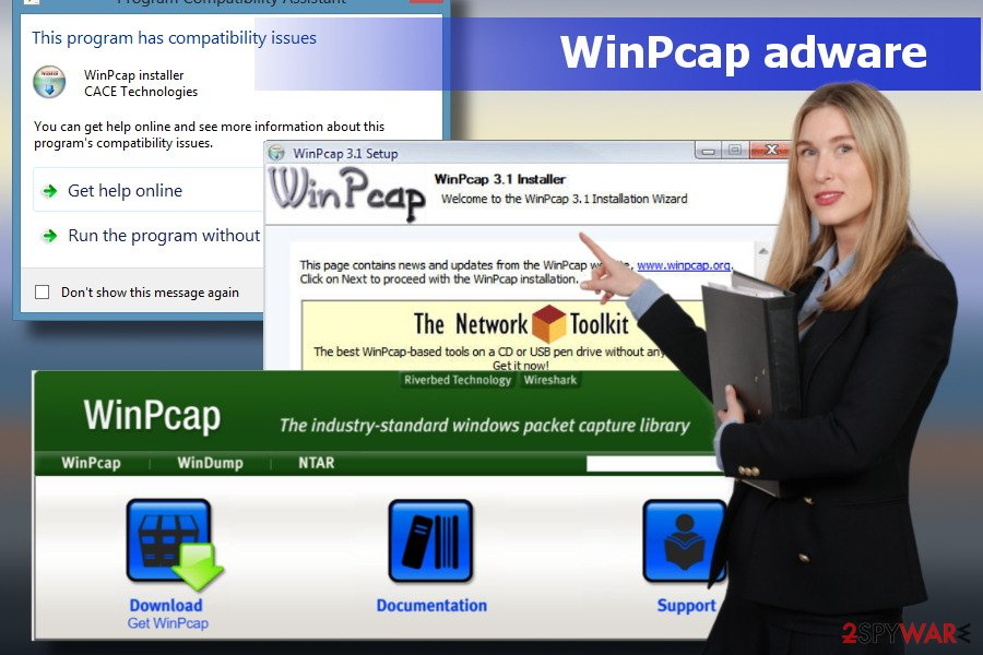 Showing WinPcap virus