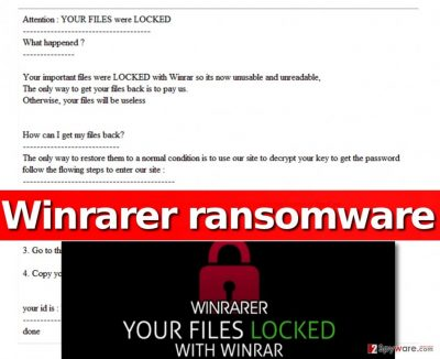 Image showing the ransom note left by Winrar ransomware