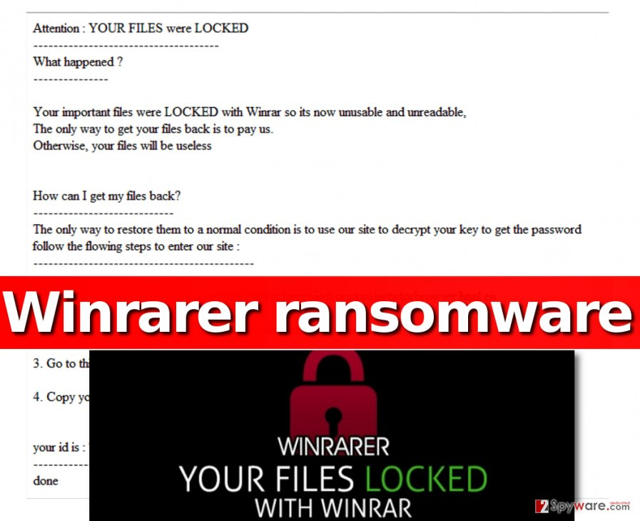 WinRarer virus archives all personal files into one .ace file