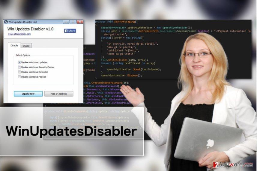 Image of WinUpdatesDisabler virus