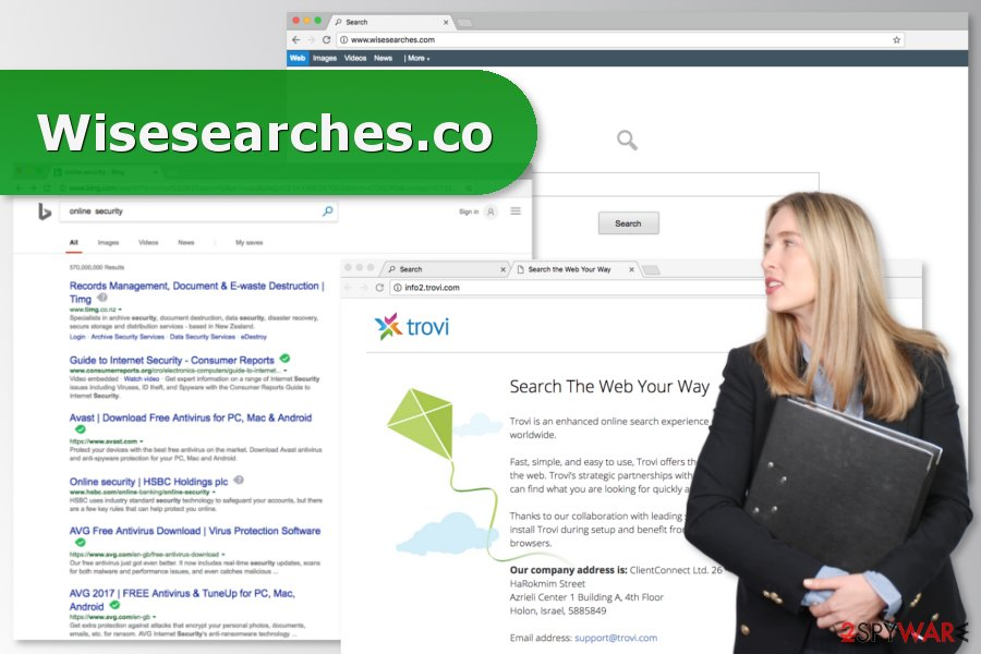 The image of Wisesearches.com virus