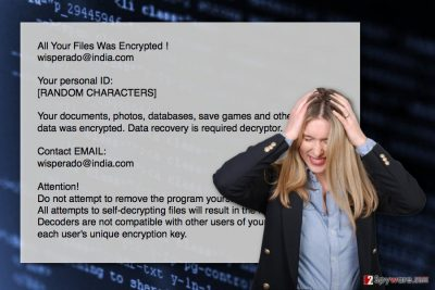 The image of Wisperado@india.com ransomware