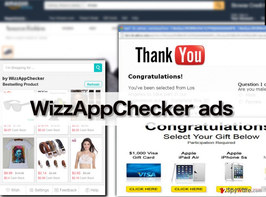 WizzAppChecker virus in action