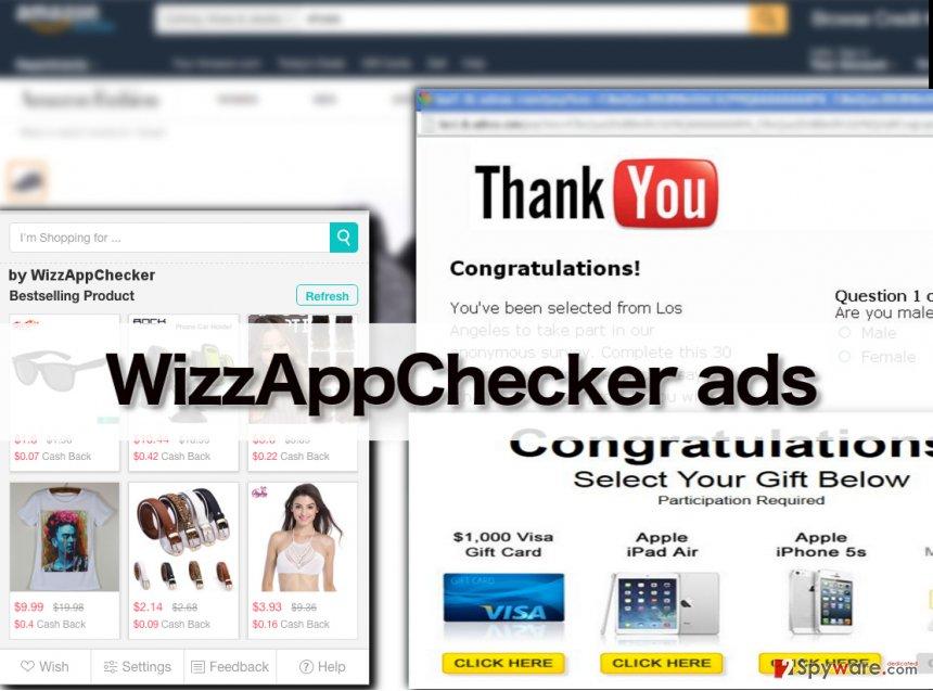 WizzAppChecker virus in action